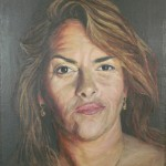703# R. Perlak, The portrait of Tracey Emin, 2015, oil on canvas stick on panel, 25 x 21 in (62 x