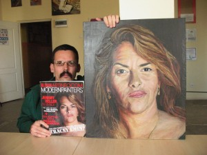 705# R. Perlak, The portrait of Tracey Emin, Modern Painter Magazine and the author