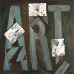 701# R. Perlak, ART, 2016, oil on canvas stick on panel, 16 x 13 in (42 x 33 cm)