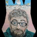805# R. Perlak, Marek Raczkowski - Ego, Alter Ego, Superego, 2014, oil on canvas, irregular form