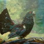 840# R. Perlak, Wood Grouse, 2013, oil on canvas, 15 x 18 in (38 x 46 cm)