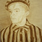 862# R. Perlak, August Kowalczyk. Prisoner of Concentration Camp Auschwitz Birkenau, 2013, oil on