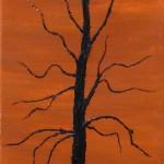 888# R. Perlak, Portrait of a Tree. 5, 2012, oil on canvas, 20 x 6 in (50 x 15 cm)