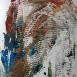 894# R. Perlak, Predator, 2013, oil on paper, 12 x 9 in (30 x 23 cm)