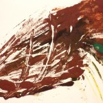 897# R. Perlak, Squid, 2012, oil on paper, 8 x 16 in (20 x 40 cm)