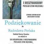 Thanks for Participation in Art Review in Sztum, 2013